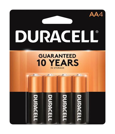Duracell Coppertop AA Alkaline Batteries 1.5 volts 4 pk