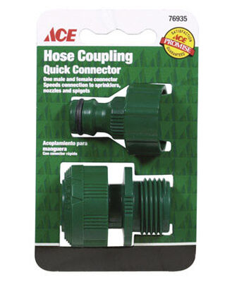 Ace Plastic Quick Connector Faucet Set Female/Male