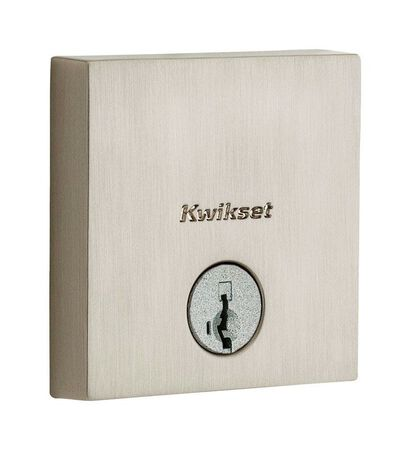 Kwikset Satin Nickel Deadbolt 1-3/4 in. 2 EA