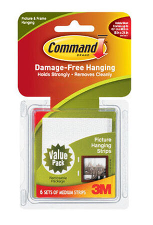 3M Command 12 lb. Large Picture Hanging Strips Foam 6 pk