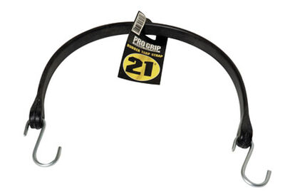 Keeper 24 in. L S Hooks Black Rubber Tarp Strap