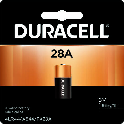 Duracell Alkaline 28A 6 volts Medical Battery PX28ABPK