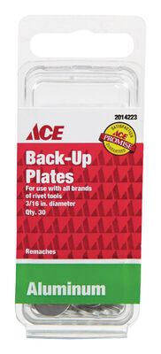 Ace Backup Plates 30 Clam Shell