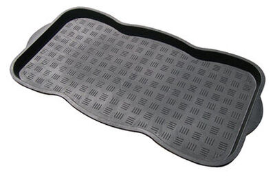 WJ Dennis Black Polypropylene Boot Tray 30 in. L x 15 in. W