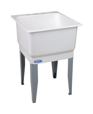 Mustee Laundry Tub Single Bowl 34 in. x 23 in. x 25 in. 20 gal. 5 Basins