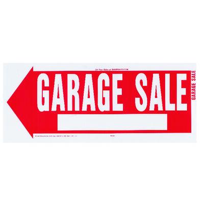 Hy-Ko English 10 in. H x 24 in. W Plastic Sign Garage Sale