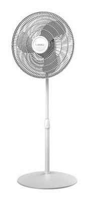 Lasko Pedestal Fan 47 in. H x 18 in. L x 17 in. W x 16 in. Dia. 3 speed Oscillating AC 3 blade Wh