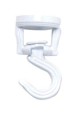 Panacea White Steel Swivel Ceiling Swag Hook 4-1/2 in. D x 3-9/16 in. H x 1-5/16 in. W