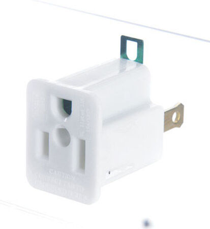 Ace Polarized Grounding Adapter White 15 amps 125 volts 1 pk
