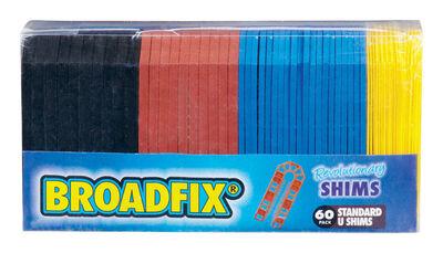 Broadfix Standard U Shims 4 in. L x 1.8 in. W Plastic 60 pk