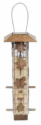Perky-Pet Squirrel-Be-Gone Wild Bird 2 lb. Metal Tube Seed Feeder 6
