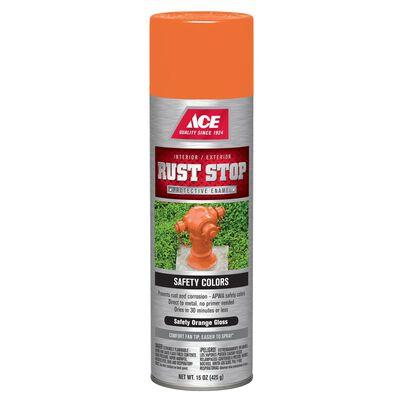 Ace Rust Stop Safety Orange Gloss Spray Paint 15 oz.