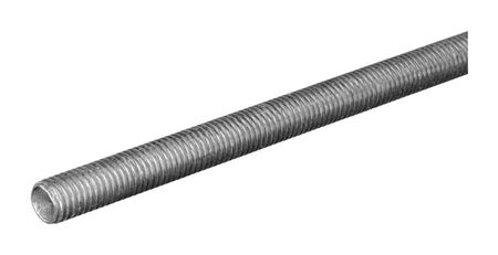 Boltmaster 3/8-16 in. Dia. x 6 ft. L Zinc-Plated Steel Threaded Rod