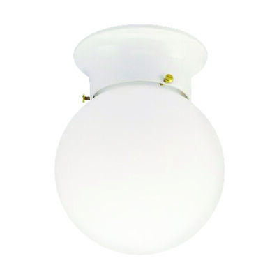 Westinghouse White Ceiling Fixture 7-1/4 in. H x 6 in. W