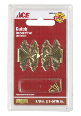 Ace Antique Decorative Catch 1.4 in. L x 0.9 in. W 2 pk