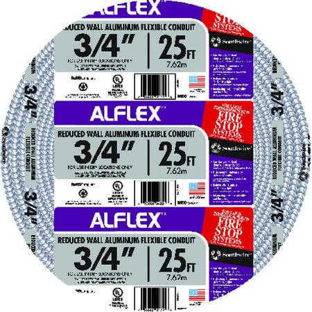 Southwire 3/4 in. Dia. x 25 ft. L Flexible Electrical Conduit FMC Aluminium
