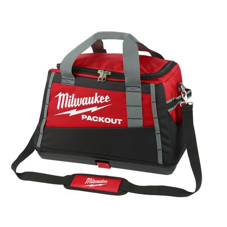 Milwaukee PACKOUT 20 in. W x 13.8 in. H Ballistic Nylon Tool Bag 3 pocket Black/Red 1 pc.