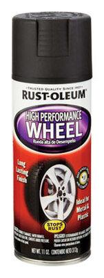 Rust-Oleum Stops Rust High Performance Black Matte Wheel Coating Spray 11 oz.