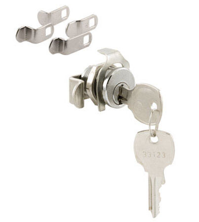 Prime-Line Brushed Nickel Die Cast Mailbox Lock