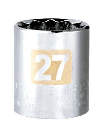 Craftsman 27 Alloy Steel 1/2 in. Drive in. drive Socket Standard
