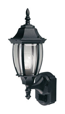 Heath Zenith Coach Light Black Aluminum Motion-Sensing A19 120 volts 100 watts