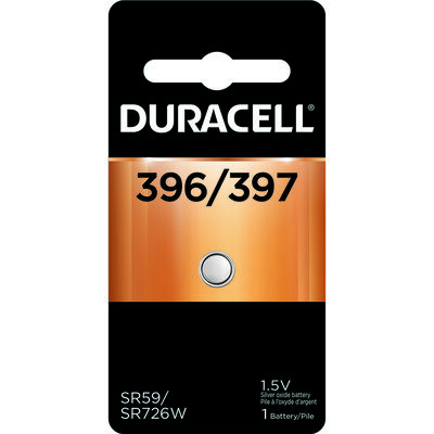 Duracell 396/397 Silver Oxide Watch/Electronic Battery 1.5 volts 1 pk