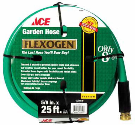 Ace 5/8 in. Dia. x 25 ft. L Garden Hose Kink Resistant