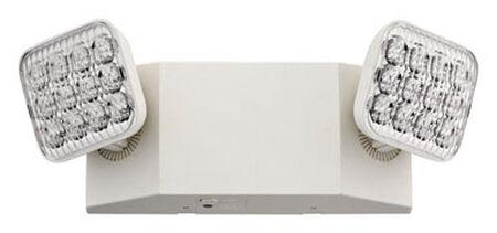 Lithonia Lighting White Metal Emergency Light Loss of AC power LED 120/277 volts