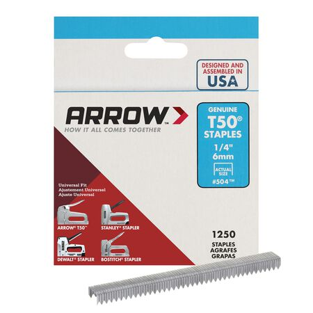 Arrow T50 Wide Heavy Duty Staples Gray 1/4 in. L