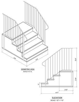 "Concrete Step 4 tread 7"" stoop"