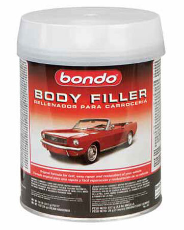 Bondo Auto Body Filler 1 qt. For Metal Wood Masonry & Fiberglass