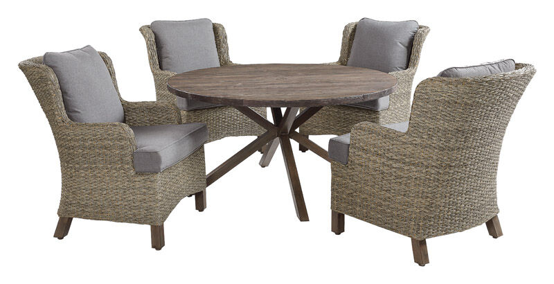 Living Accents 5 pc. Patio Set Gray | Stine Home + Yard ... on Living Accents Patio id=36437