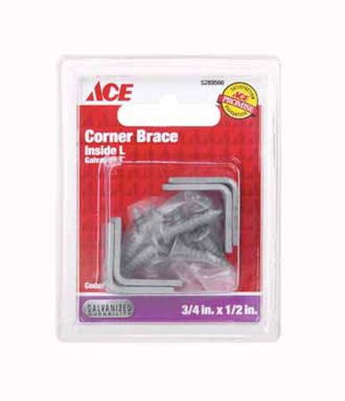 Ace Inside L Corner Brace 3/4 in. x 1/2 in. Galvanized Steel