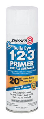 Zinsser Bulls Eye 123 Styrenated Acrylic Interior and Exterior Primer and Sealer 13 oz. White
