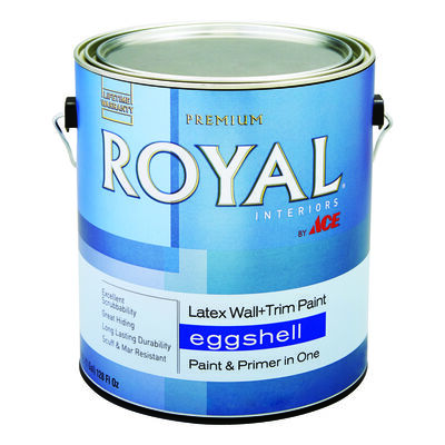 Ace Royal Interior Acrylic Latex Wall & Trim Paint High Hiding White Eggshell 1 gal.