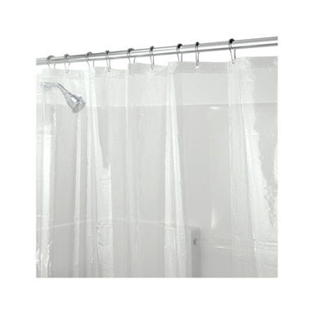 InterDesign 72 in. H x 72 in. L Clear Shower Curtain Liner