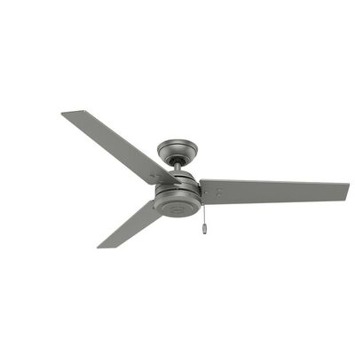 Hunter Cassius 52 in. Indoor/Outdoor Matte Silver Ceiling Fan