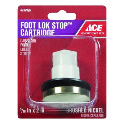 Ace 5/16 in. Dia. Foot Lok Stopper Plastic Brushed Nickel