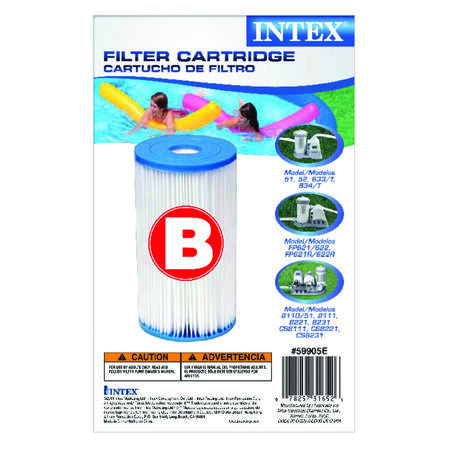 Intex Pool Filter 10.5 in. H x 17-3/4 in. L x 11-7/8 in. W