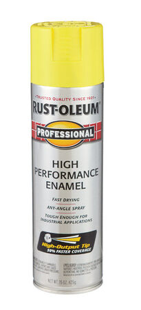 Rust-Oleum Professional Safety Yellow Enamel Spray 15 oz.