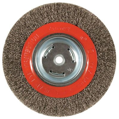 Forney 8 in. Dia. Crimped 1/2 in. Wire Wheel Brush 6000 rpm