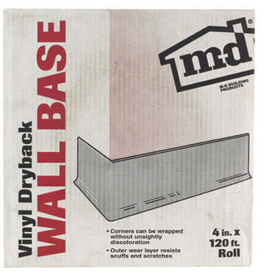M-D Building Products Coved Wall Base Vinyl 4 in. H x 120 ft. W Desert Beige