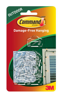 3M Command Small Outdoor Light Clip 2-3/4 in. L Plastic 16 pk