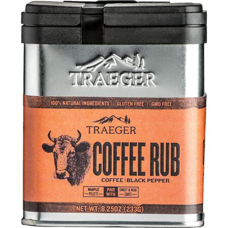 Traeger Coffee and Black Pepper Seasoning Rub 8.25 oz.