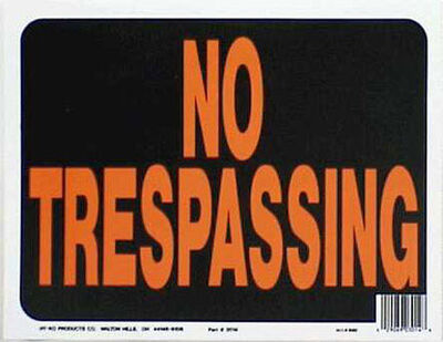 Hy-Ko English 9 in. H x 12 in. W Plastic Sign No Trespassing