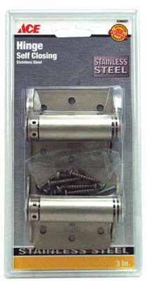Ace 3 in. H x 3 in. L 3 in. Stainless Steel Spring Return 2 Stainless Steel Adjustable Spring Hi