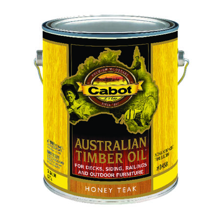 Cabot Transparent Oil-Based Australian Timber Oil Honey Teak 1 gal.