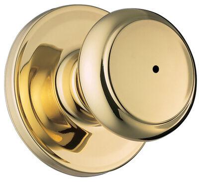 Weiser Troy Privacy Lockset Polished Brass Steel 2 Grade Left Handed Right Handed