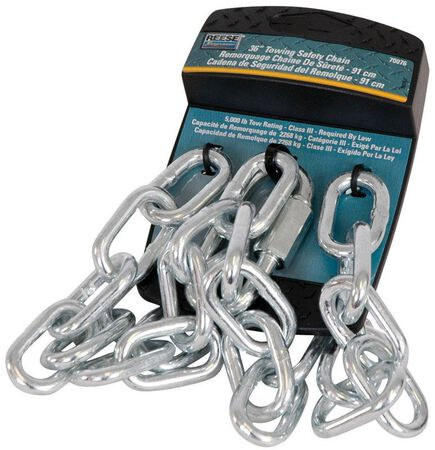 Reese Towpower Bright Zinc Safety Chain 36 in. L 5000 Silver