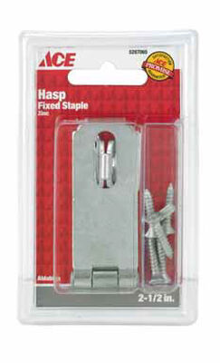 Ace Zinc Fixed Staple Safety Hasp 2-1/2 in. L
